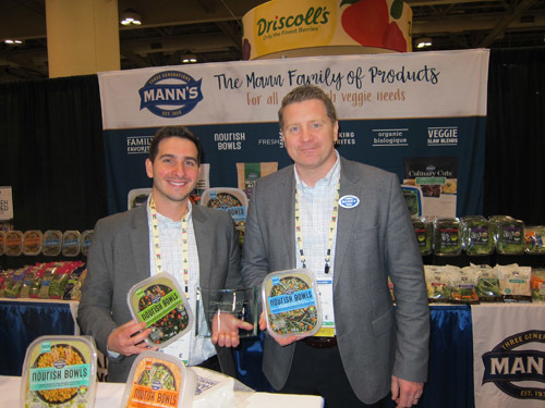 Michael Sousa and Ben Alviano with Mann's Award Winning Nourish Bowls