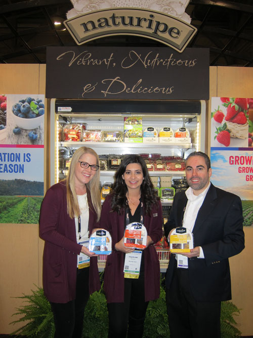Marissa Ritter, Jaqueline Padilla and Fernando Aguiar of Naturipe Farms