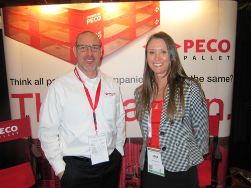 PECO Pallet's Spero Moukas and Lisa Vegso