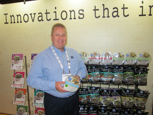 Scott Pickup with Apios Award winning Salad Shake Ups