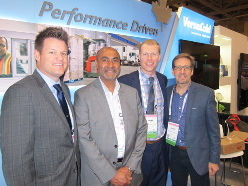 VersaCold's Ian Sinclair, Peter Lal, Tyler Gore and David Bruce