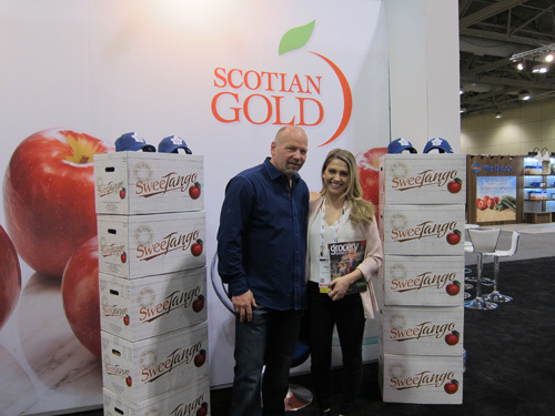 Wendell Clark, former Maple Leaf with Maria Proulx, Grocery Business