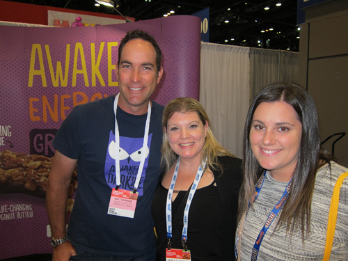 Awake Chocolate's Matt Schnarr with Bulk Barn's Brooke Dickie and Angela DiVincenzo