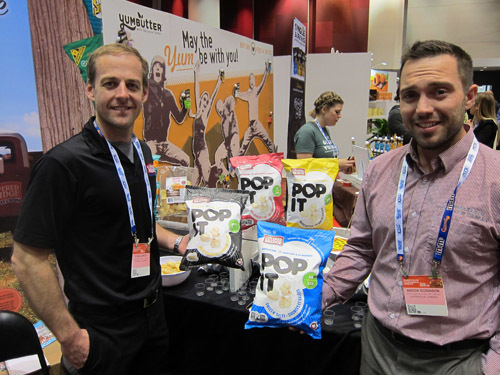 Covered Bridge's Ryan Albright and Brook Dickinson with newly launched Pop It Kettlecorn