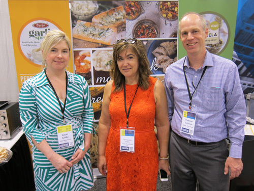 Susan Goldie, Teri Puccini-Staley and Fletcher Johnson of Derlea Brand Foods