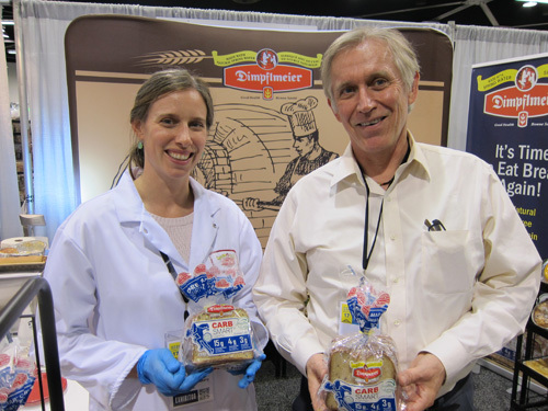 Sylvia and Peter Day with Dimpflmeier Bakery's new Carb Smart Bread