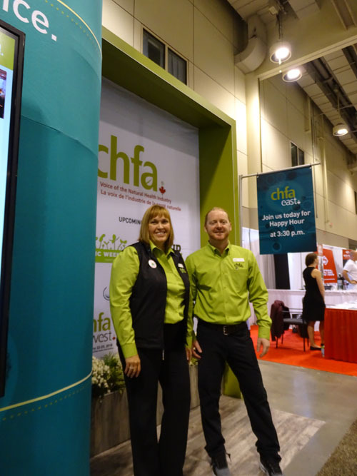 Helen Long and David Clark of the Canadian Health Food Association