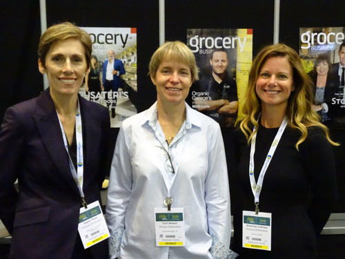 L to R Gayle Thom, Terri Newell and Shannen Lohnes of Horizon Distributors