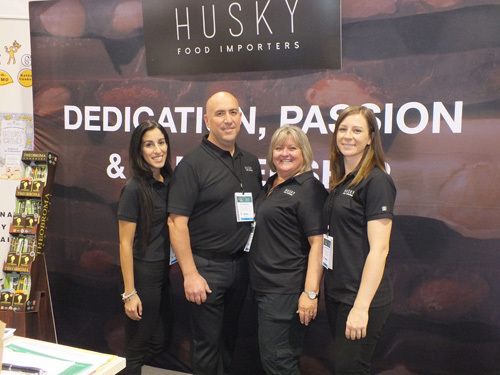 L to R Patrizia Pucciano, Nick Mattiace, Christine Gallant and Leanne Kavanagh of Husky Food Importers and Distributor