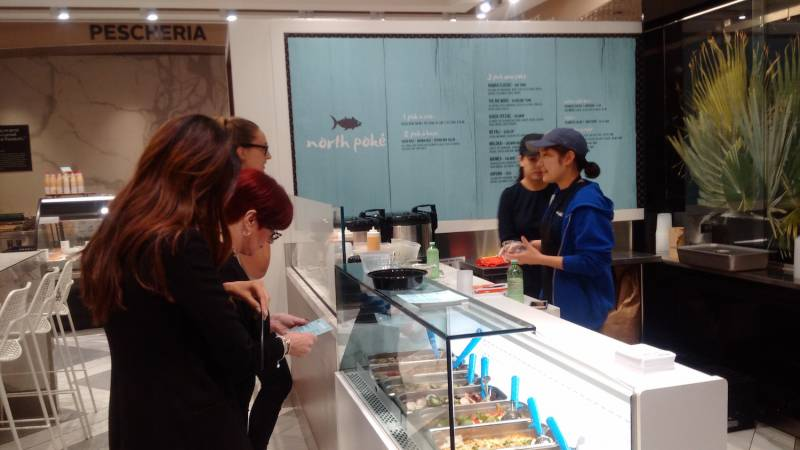 Photo of the week: Pusateri's poke bar at the Sherway Gardens Saks foodhall location