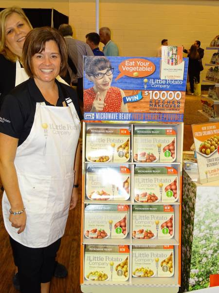 Christa Wagner promotes Microwave Ready Fresh Creamer Potatoes for The Little Potato Company.