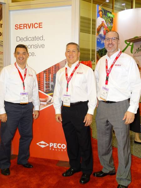 Left to right Marc Kennedy David Casarez and Spero Moukas of PECO Pallet