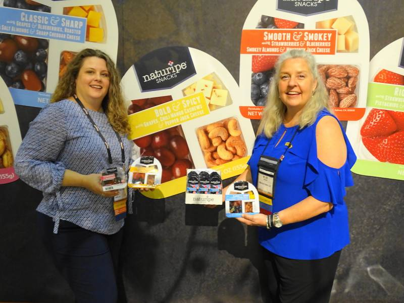 Naturipe Snacks proudly displayed by left Carrieann Arias and Jill Overdorf