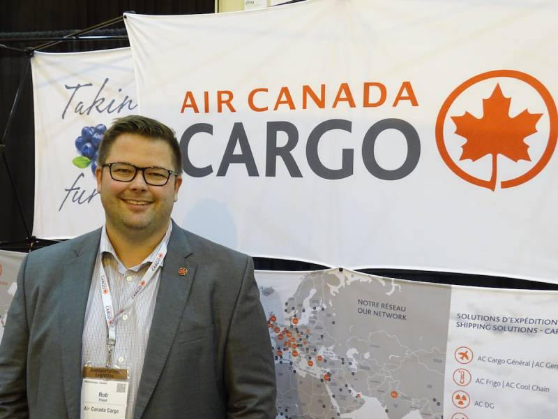 Rob Flood Air Canada Cargo flying the colours at the PMA Show New Orleans