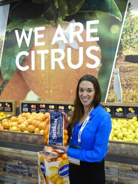 Sunkist Growers will begin shipping Sunkist Delite California mandarins in early November kicking off the 2017 and 2018 citrus season Joan Wickham displays the mandarins