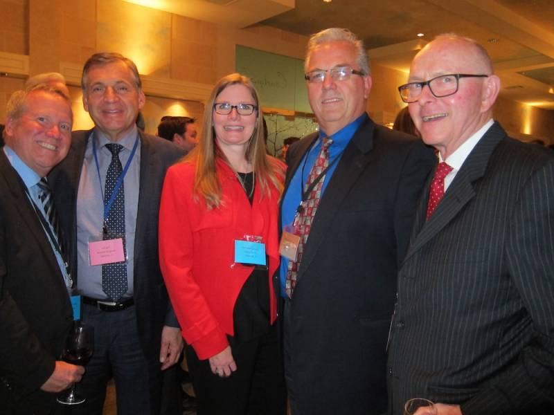 Chris Powell, Tree of Life; Michael Forgione, Longos; Cheryl Smith, Parmalat; Bill Ivany, Tree of Life; Al Tyreman, AWT Assoc