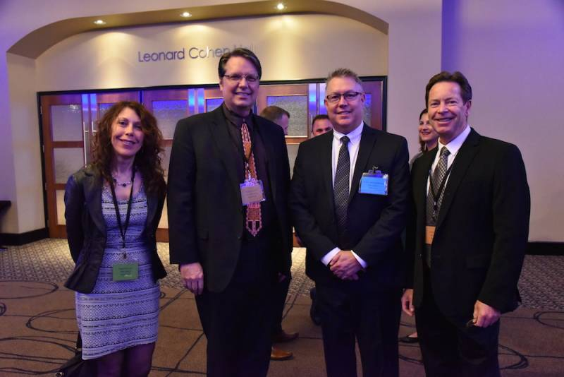 Mary Scianna, Larry Bonikowsky, Grocery Business;  Brian Jackson, Acosta;  Kevin Smith, Grocery Business