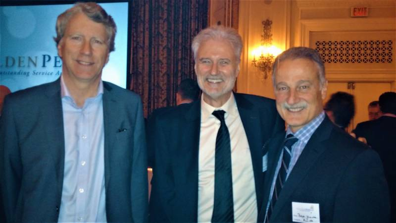 Andre Gagne, Metro Inc.; Colin Glaysher, C.B. Powell; Ralph Younes, Unico