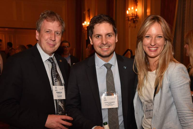 Francois Bouchard, The Country Grocer; Pierre Alexandre, Blouin Quebec Food Retailer Association; Marie Christine Siviere, SIAL Canada
