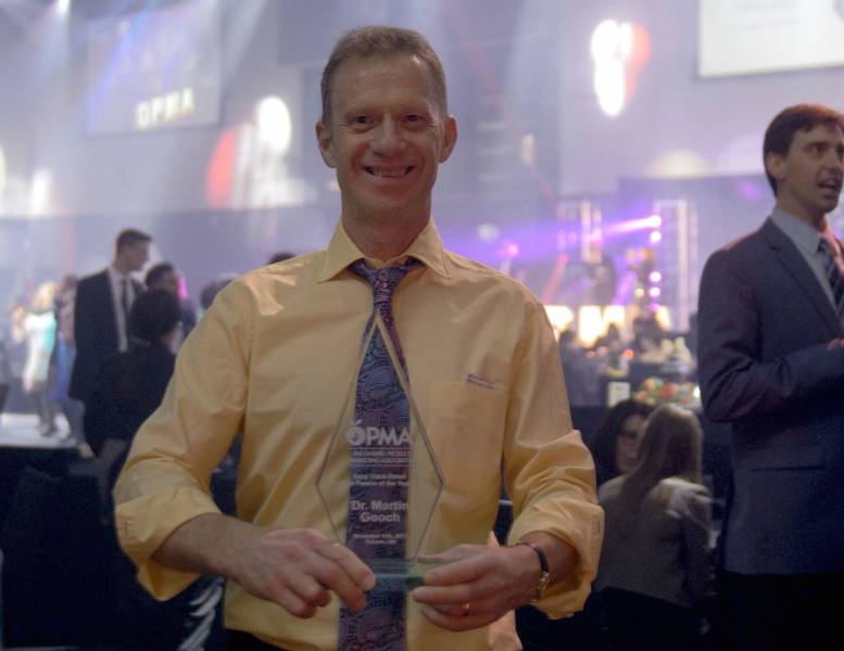 Dr. Martin Gooch, Value Chain Management International, received the Cory Clack-Street Produce Person of the Year Award