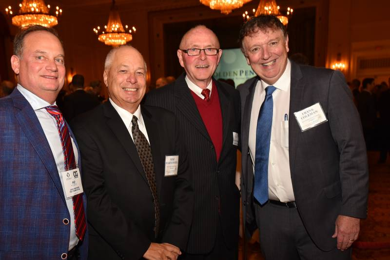 Pat Pessotto, Longo Brothers Fruit Markets; Mike Marinangeli, MIDEB Consulting; Al Tyreman, ATS; Frank Coleman Coleman Food Centre