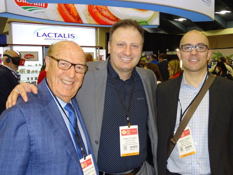 Arthur Pelliccione, Colombo Importing with David DiStefano and Miguel DaSilva Parmalat Canada