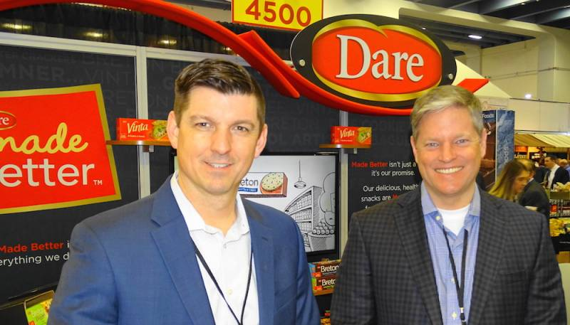 Todd Taylor left with Paul Sinden of Dare Foods