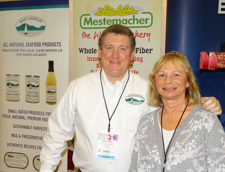 Brian Cote and Dixie Slusarchuk of Bar Harbor Foods