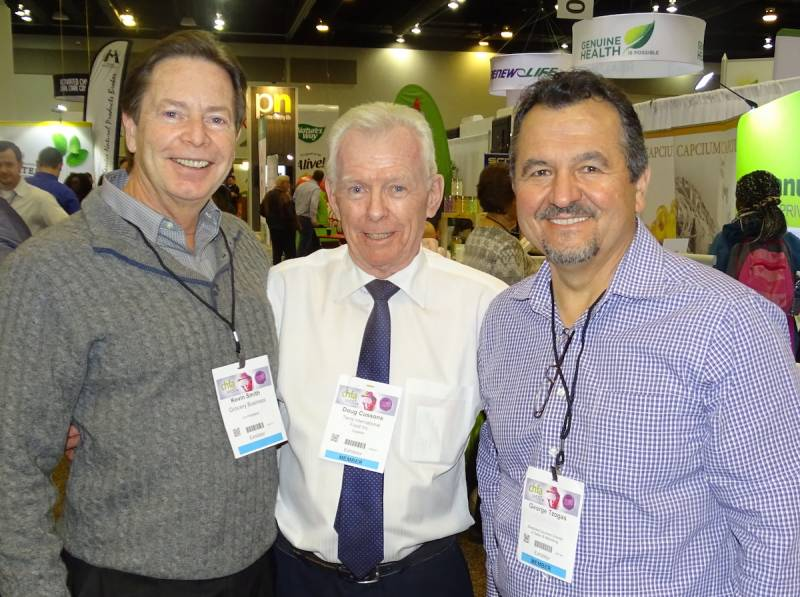 Left to right Kevin Smith of Grocery Business, Doug Cussons of Terra International Food and George Tzogas of Shepherd Gourmet