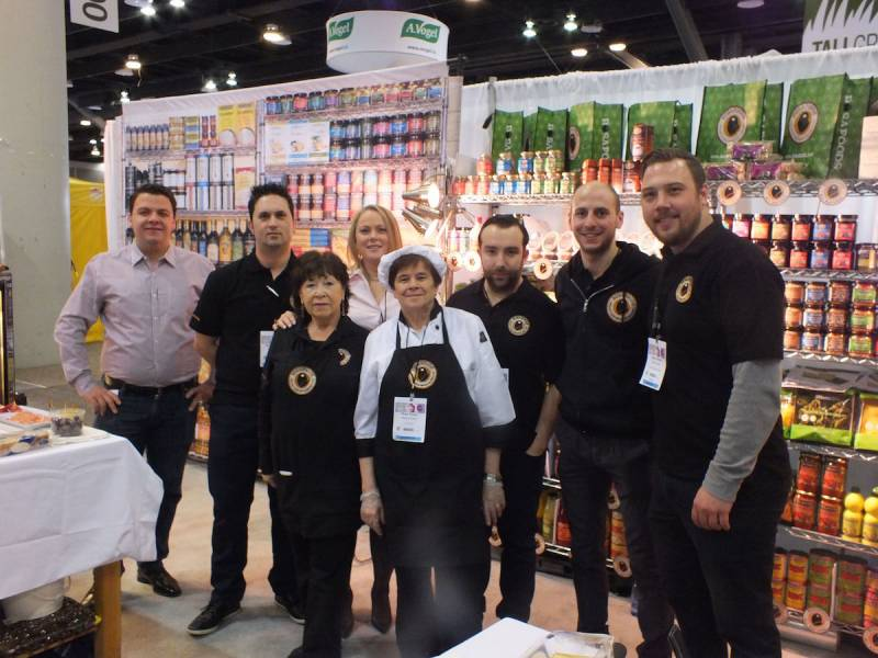 The Bosa Foods Group from left: Hayden Ritter, Danny Loeiro, Doris Keller, Michael Guidi, Stefano Bortolussi and Jesse Gerber. Front from left is Nancy Assara and Rosa Poato