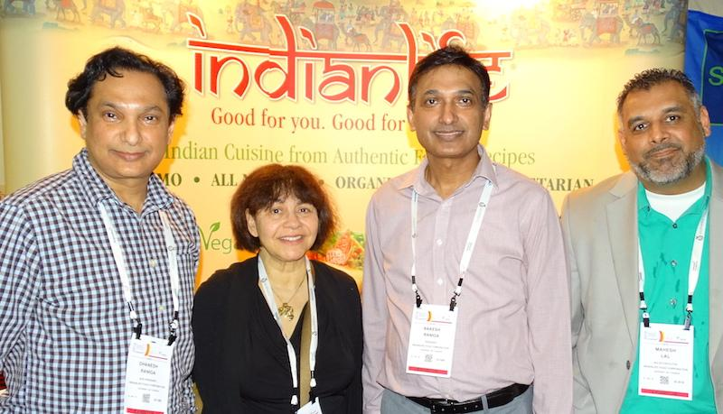 From left: Dhanesh Raniga, Julie Boton, Rakesh Raniga and Mac Lal of Indianlife