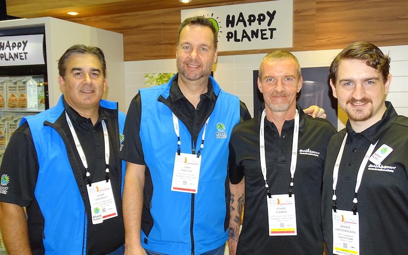 From left: Duane Arsenault, John Danyluk, Stuart Fleming and George Chatzivasileiou of Happy Planet