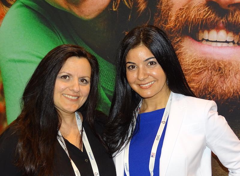 Soula Kioussis of Clorox (left) with Dr Sara Celik of Renew Life