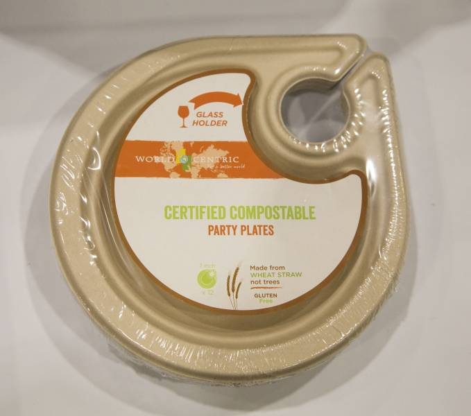 Best Sustainable: World Centric Certified Compostable Party Plates (On Green Go Solutions)