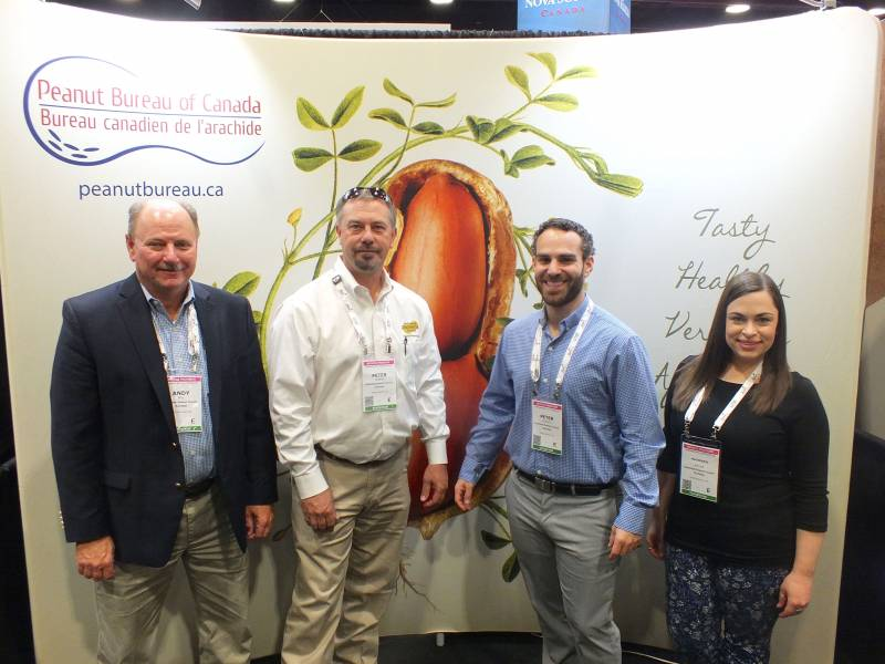 Andy Bell, Peter Froese, Peter Vlazakis and Mackenzie Keller, American Peanut Council (Canada)