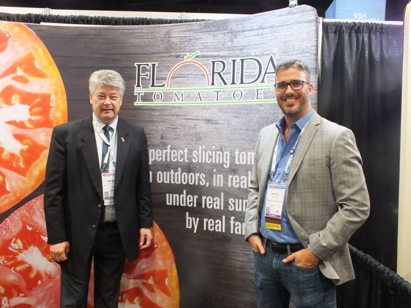 Brad Brownsey and Michael Schadler, Florida Tomato Committee
