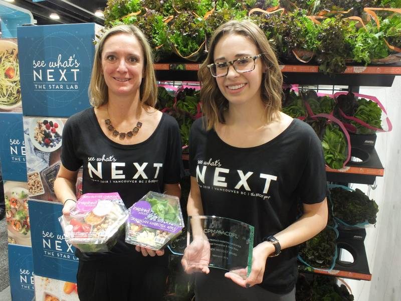 Devon Kennedy and Jessica Wells, The Star Group with Best New Product, Inspired Salads