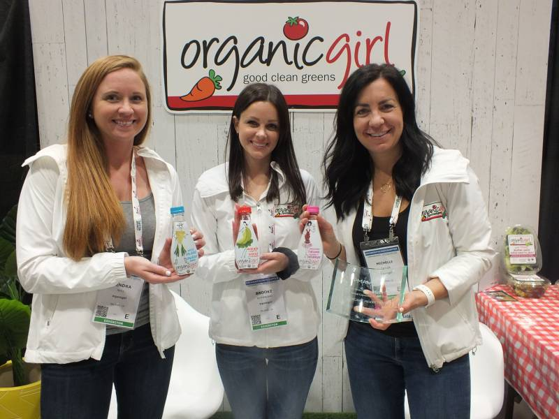 Kendra Noll, Brooke Sutherland and Michelle Taylor, Organic Girl with salad dressings that won the Organics award
