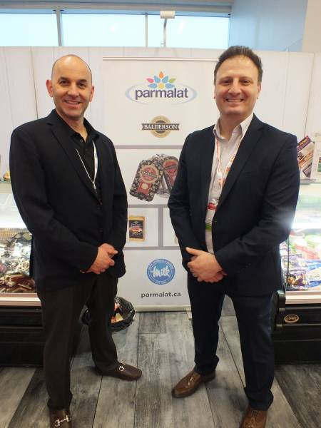 Albert Borgo, Quality Cheese and David DiStefano, Parmalat Canada