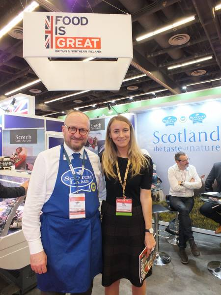 Laurent Vermet, Quality Meat Scotland and Dana Dickerson, British Consulate General, Toronto