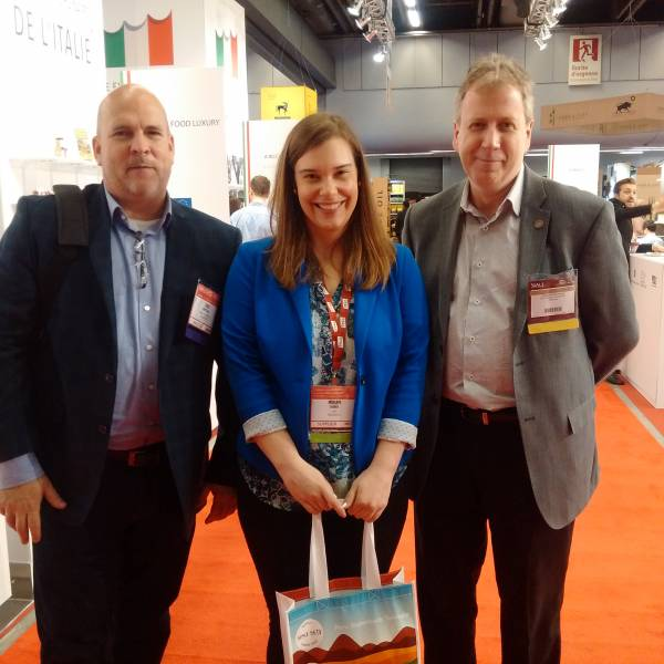 Todd Newsted, DCI Canada; Miriam Farber, ONFC; Francois Bouchard, The Country Grocer