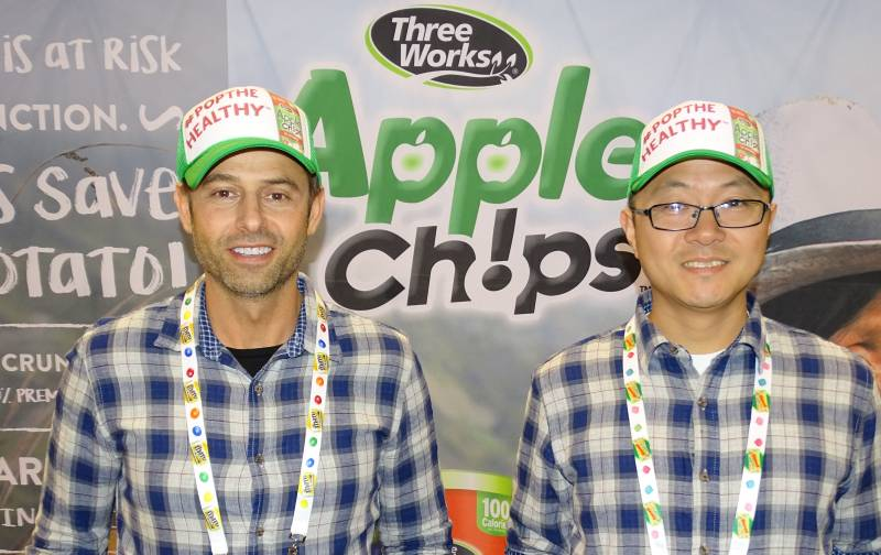 Michael Petcherski (l) and Alan Shang of ThreeWorks Snacks