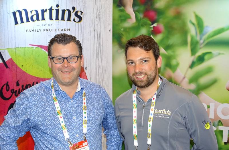 Peter Katona (l) and Logan Martin of Martin's Family Fruit Farm