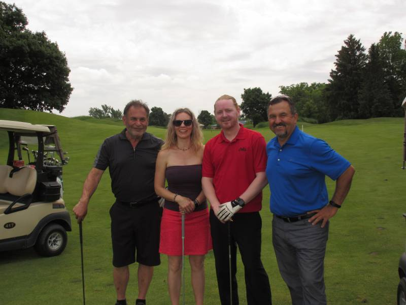 Angelo Elesuiniottis, Michelle Dennis, Dave Clark and George Tzogas