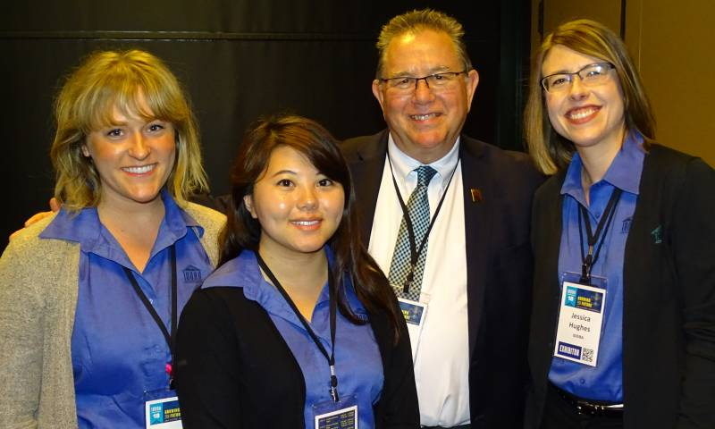Left to right: IDDBA's Ashley Reis, Choua Yang, Mike Eardley and Jessica Hughes
