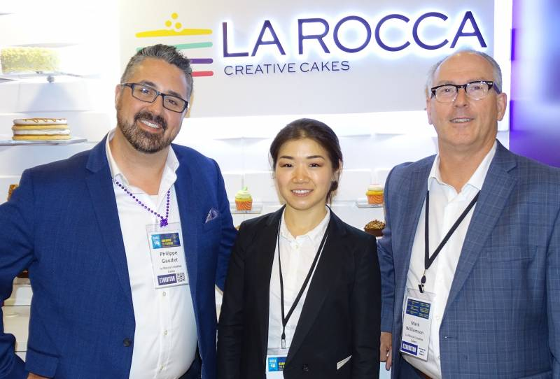 Philippe Gaudet, Judy Yu and Mark Williamson of La Rocca Creative Cakes