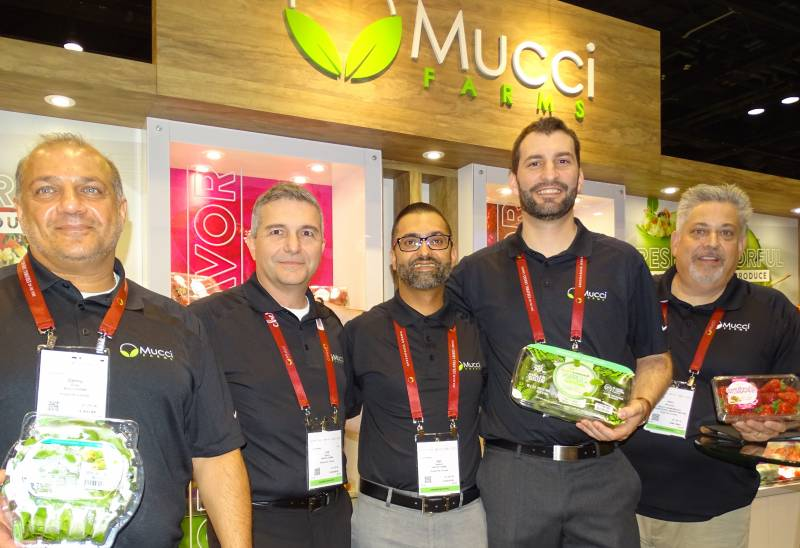 At Mucci Farms with (left to right) Danny Elias, Joe Spano, Ajit Saxena, Stephen Cowan and John McCarthy