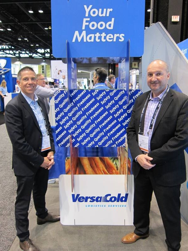 Derek Ruel and Steve Brennan of VersaCold at the co located Global Cold Chain Expo