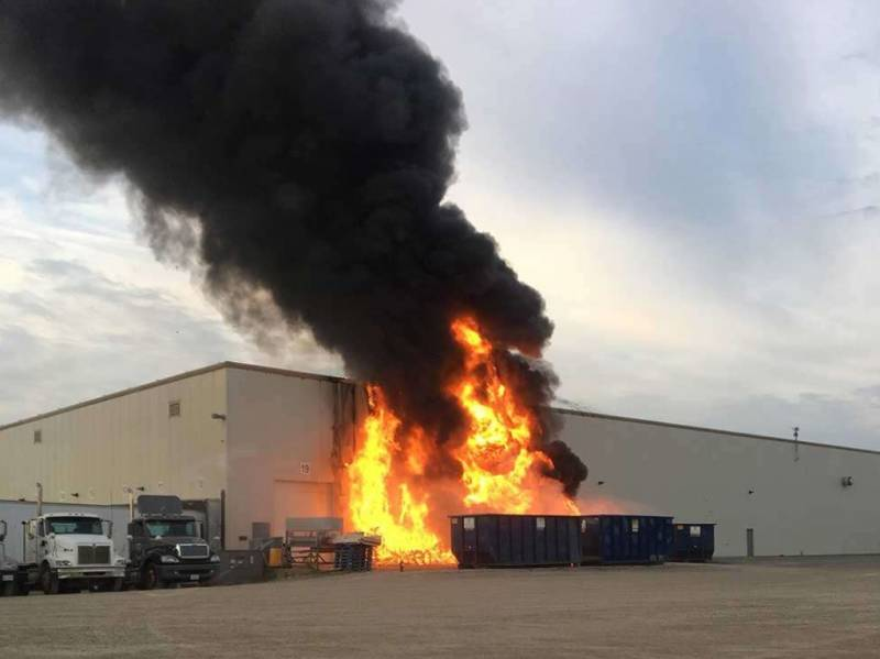 Leamington produce plant blaze - Photo: Windsor Star