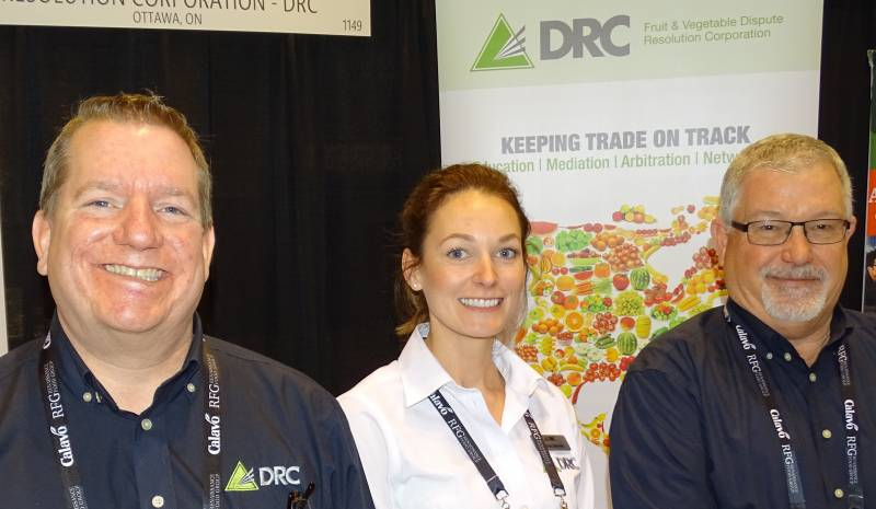 Luc Mougeot (left) with Andrea Bernier and Fred Webber at the DRC Booth